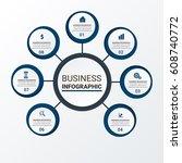 vector business design template | Shutterstock .eps vector #608740772