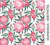 beautiful spring tender graphic ...   Shutterstock . vector #608744756