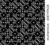 seamless black and white dice... | Shutterstock .eps vector #608749628