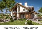 3d rendering of modern cozy... | Shutterstock . vector #608753492