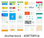 flat material design ui kit...