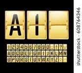 mechanical scoreboard vector.... | Shutterstock .eps vector #608764346