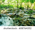 waterfall in the national park... | Shutterstock . vector #608764352
