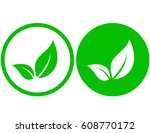 round natural icon with green... | Shutterstock .eps vector #608770172