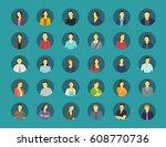 social network relationship... | Shutterstock .eps vector #608770736
