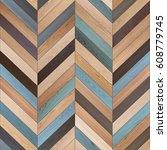 seamless wood parquet texture ... | Shutterstock . vector #608779745