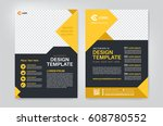 geometry yellow brochure  flyer ... | Shutterstock .eps vector #608780552