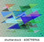 triangles background texture | Shutterstock .eps vector #608798966