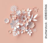 3d render  abstract paper...   Shutterstock . vector #608803466