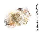 splattered white grungy... | Shutterstock .eps vector #608803736