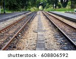 logistics concept.train track.. ... | Shutterstock . vector #608806592