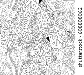 tracery seamless pattern.... | Shutterstock .eps vector #608808062