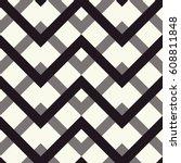 zigzag seamless pattern in... | Shutterstock .eps vector #608811848