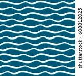 sea waves. seamless pattern | Shutterstock .eps vector #608812025