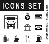 car wash sign icon   Shutterstock .eps vector #608821286