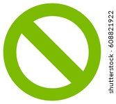 no sign vector icon. flat eco...   Shutterstock .eps vector #608821922