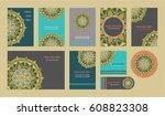mandala vintage template card ... | Shutterstock .eps vector #608823308