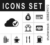 selected cloud icon | Shutterstock .eps vector #608829572