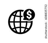 global business icon | Shutterstock .eps vector #608835752