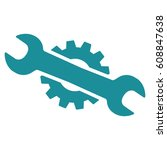 service wrench raster icon.... | Shutterstock . vector #608847638