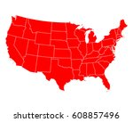 map of usa | Shutterstock .eps vector #608857496