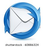 mail envelope and blue circular ... | Shutterstock .eps vector #60886324