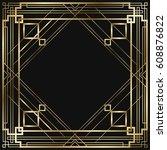 vintage retro style invitation  ...   Shutterstock .eps vector #608876822