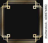 vintage retro style invitation  ... | Shutterstock .eps vector #608876882