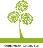 vector abstract icon tree  | Shutterstock .eps vector #608887118