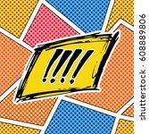 comic book speech bubble ...   Shutterstock .eps vector #608889806