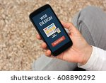 hand holding smart phone with