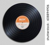 audio analogue record vinyl... | Shutterstock .eps vector #608894906