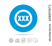 xxx sign icon. adults only...   Shutterstock .eps vector #608895872