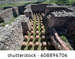 ruins of the ancient greek city ... | Shutterstock . vector #608896706