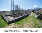 ruins of the ancient greek city ... | Shutterstock . vector #608896862