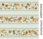 seamless pattern in ethnic...   Shutterstock .eps vector #608903468