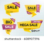 sale and discounts set of... | Shutterstock .eps vector #608907596