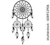 hand drawn native american...   Shutterstock .eps vector #608912906