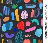 creative seamless pattern.... | Shutterstock .eps vector #608914022