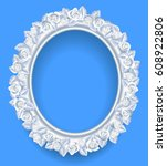 round classic frame with white... | Shutterstock .eps vector #608922806