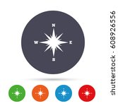 compass sign icon. windrose...   Shutterstock .eps vector #608926556