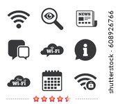 free wifi wireless network... | Shutterstock .eps vector #608926766