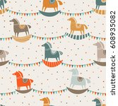 vector seamless pattern with... | Shutterstock .eps vector #608935082