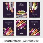 vector trendy brochure... | Shutterstock .eps vector #608936942
