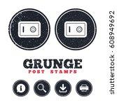 grunge post stamps. safe sign...   Shutterstock .eps vector #608949692