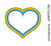 lgbt rainbow heart. symbol of... | Shutterstock .eps vector #608952158