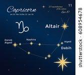capricorn. high detailed vector ... | Shutterstock .eps vector #608954678