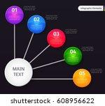 vector infographic elements on... | Shutterstock .eps vector #608956622