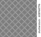 diamond plate. anti slip... | Shutterstock .eps vector #608968796