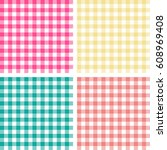 picnic table cloth. seamless... | Shutterstock .eps vector #608969408